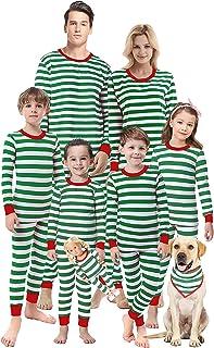 Matching Family Christmas Boys Girls Pajamas Striped Kids Sleepwear Children Clothes
