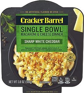 Cracker Barrel Sharp White Cheddar Macaroni & Cheese Single Bowl Dinner (3.8 oz Boxes, Pack of 6)