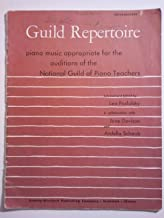 Guild Repertoire, Piano Music Appropriate for the Auditions of the National Guild of Piano Teachers, Intermediate F