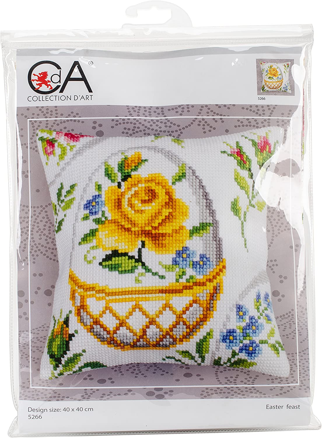 RTO Collection D'Art Stamped Boston Mall 40X40cm-Eas Kit In a popularity Cushion Needlepoint