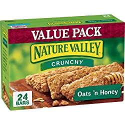 Nature Valley Granola Bar, Crunchy Granola Bar, Whole Grain Oats, Oats 'N Honey, 12 Bars