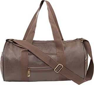 Amex Sports Fitness Gym Polyester Duffle Bag (Brown)