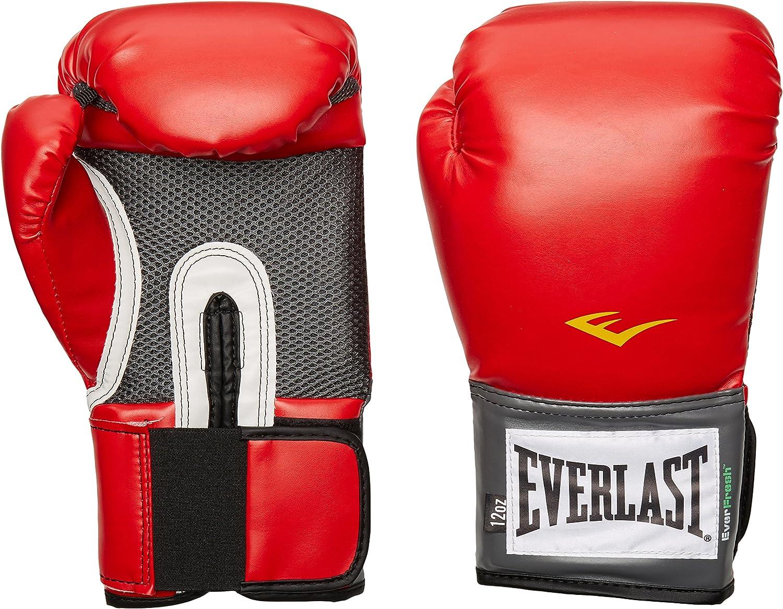 Everlast Pro Style -  Guantes de entrenamiento (rojo, 16 onzas)