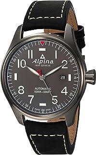ساعت مچی مردانه Alpina Startimer استیل اتوماتیک سوئیس با بند چرمی ، مشکی ، 21 (مدل: AL-525G4TS6)