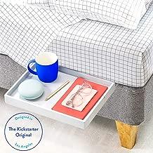 BedShelfie The Original Bedside Shelf - 9 Colors / 4 Sizes - AS SEEN ON Business Insider (Slide Style, Bamboo in Light Grey)