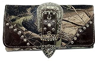 Montana West Tr-Fold Western Wristlet Wallet- Camouflage Green