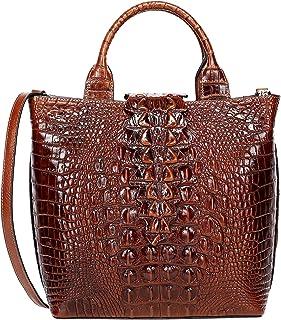 Details about  /Women Genuine Leather Crocodile Handbag Shoulder Bag Messenger High Capacity QR