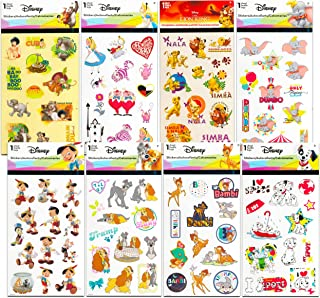 Classic Disney Stickers Party Favors Mega Assortment ~ Bundle Includes 16 Disney Sticker Sheets Featuring Bambi, 101 Dalma...
