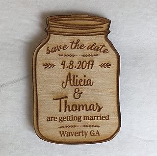 25 Mason Jar Save the Date Magnets - Wedding