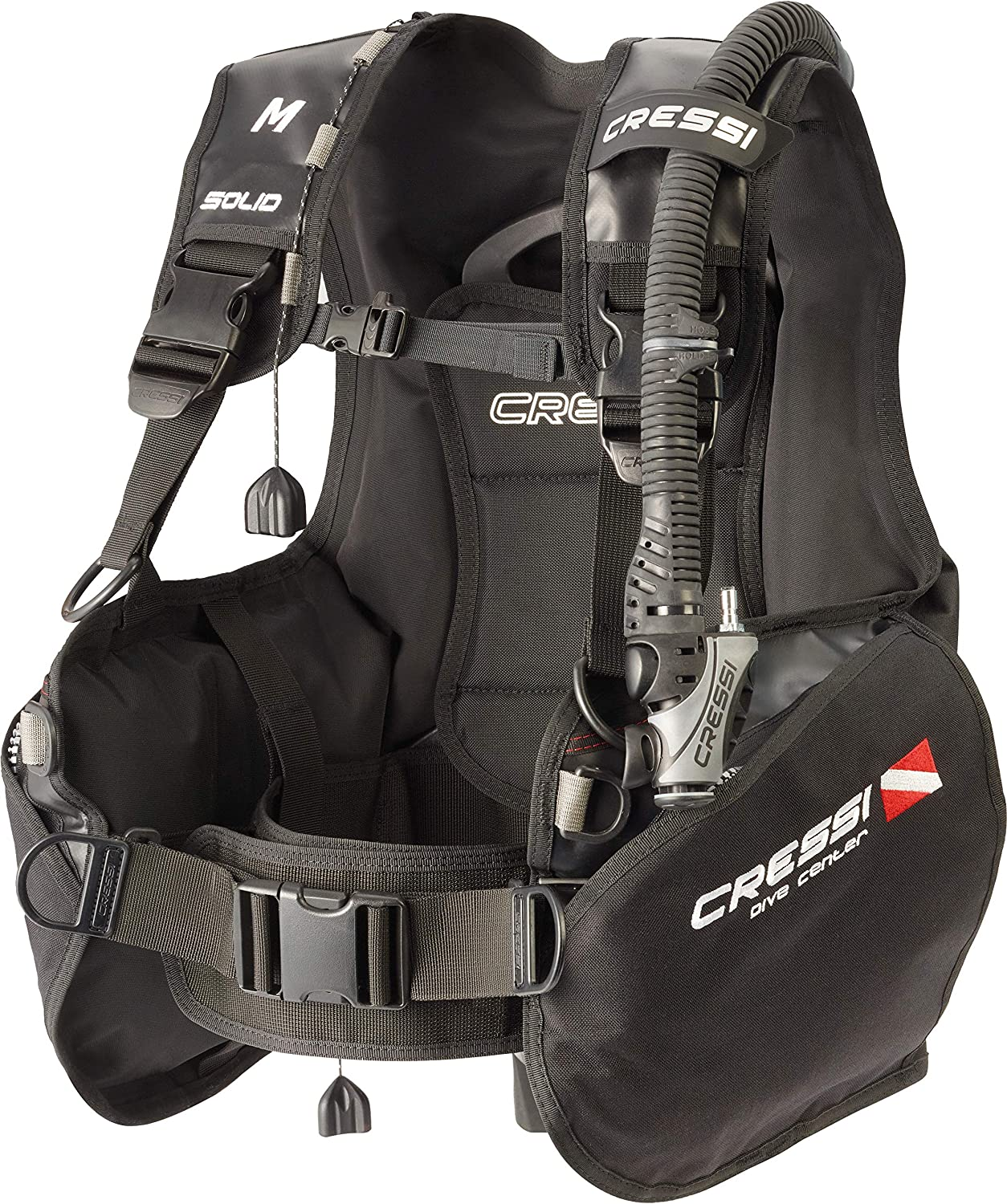 Cressi Scuba Diving Jacket BCD Designed for Intense Use Large Pockets Solid: Designed in Italy High-Lift Capacity Nylon 500D