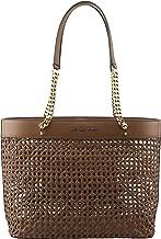 MICHAEL Michael Kors Women's Kinsley Rattan Carryall Tote Bag in Luggage, Style 35T9GYKT3I