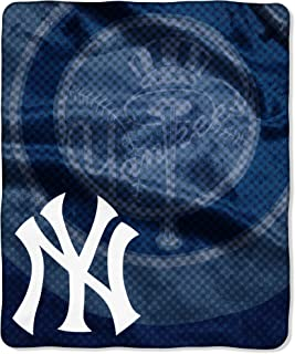 Officially Licensed MLB Retro Raschel Throw Blanket, Soft & Cozy, Washable, Throws & Bedding, 50