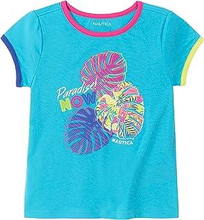 Nautica girls Girls' Short Sleeve Graphic Tee Shirt T-Shirt