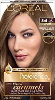 L'OrÃal Paris Superior Preference Fade-Defying + Shine Permanent Hair Color, UL61 Ultra Light Ash Brown, 1 kit Hair Dye 1 Count