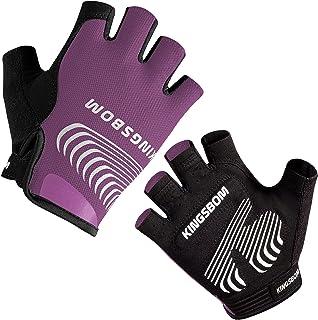KINGSBOM Cycling Gloves, Shock-Absorbing Bike Gloves with...
