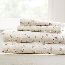 Linen Market Soft Floral Patterned 4 Piece Sheet Set, Full