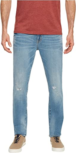 Stretch Slim Jeans with Destroy in Blue