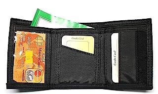 Nylon Trifold Credit Card Wallet - Black