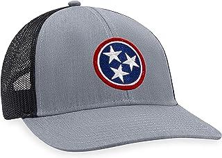 Tennessee Hat – TN Flag Trucker Hat Baseball Cap Snapback Golf Hat (Grey)