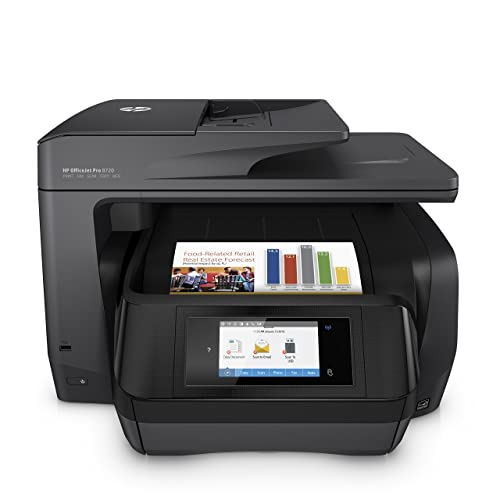 HP OfficeJet Pro 8720 All-in-One Wireless Printer, HP Instant Ink & Amazon Dash Replenishment ready - Black (M9L74A)