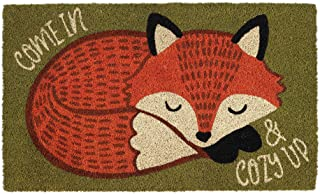 "DII Animal Pun Collection Natural Coir Doormat, 18x30"", Cozy Fox"