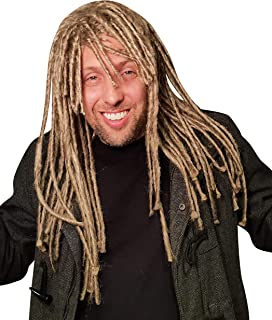 Dreadlock Wig For Men Hippie Gangster Beach Bum Reggae Rasta Man Homeless Dreads Costume