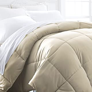ienjoy Home Hotel Collection 1500 Series - Lightweight - Luxury Goose Down Alternative Comforter - Hotel Quality Comforter and Hypoallergenic  - Full/Queen - Ivory