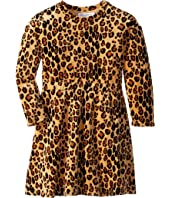 mini rodini - Leopard Velour Dress (Infant/Toddler/Little Kids/Big Kids)