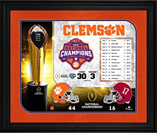 Clemson Tigers College Football Playoff 2018 National Champions Framed 20