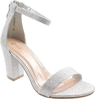 Women's Hannah-1 Ankle Strap High Heel Sandal Silver