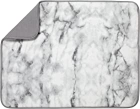 "S&T XL Microfiber Dish Drying Mat, 18"" x 24"", Marble"