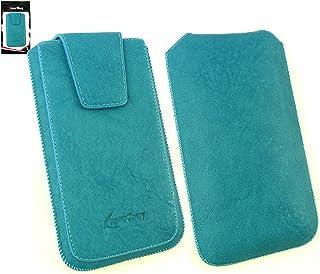 63f3e2d259e Emartbuy® Classic Range Azul Cuero PU de Lujo Funda Carcasa Case Tipo Bolsa  (Size