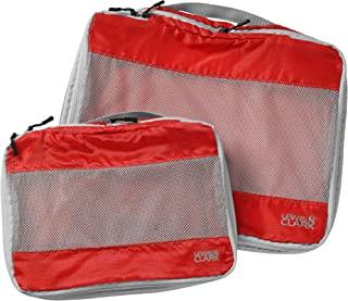 Lewis N. Clark Electrolight Packing Cube Set, 2-Pack, Red (Red) - 1125