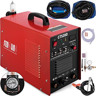 Mophorn TIG/MMA Plasma Cutter CT520D 3 in 1 Combo Welding Machine Tig Welder 200A Arc Welder 200A Plasma Cutter 50A Plasma Cutting Machine Dual Voltage 110 220V