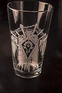 World of Warcraft Pint Glass - Horde Crest