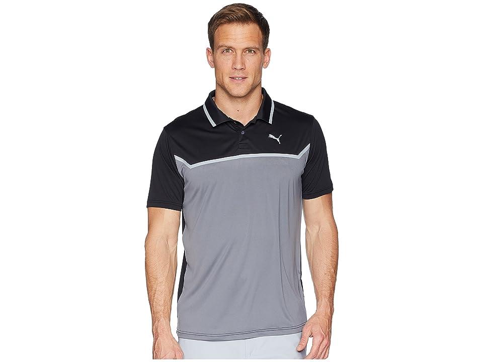 PUMA Golf Bonded Tech Polo (Puma Black/Quiet Shade) Men