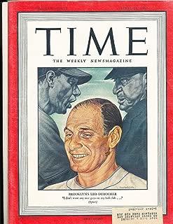 Leo Durocher Brooklyn Dodgers 4/14 1947 Time Magazine