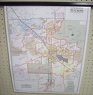 Metropolitan Tucson ZIP Code Arterial & Collector Streets Desk Map Paper/Non-Laminated