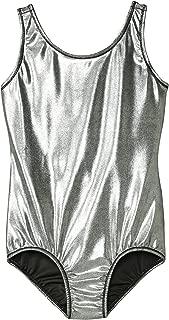Girls' Gymnastics Solid Sparkle Leotard