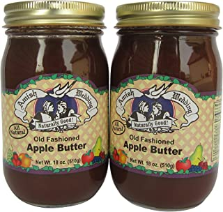 Amish Wedding All Natural Old Fashioned Apple Butter 18 Ounces (Pack of 2)