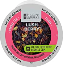 Higgins & Burke Single Serve Tea Capsules, Lush Berry Loose Leaf Tea, 24 Count, Premium Authentic Herbal Tea with Natural Blend