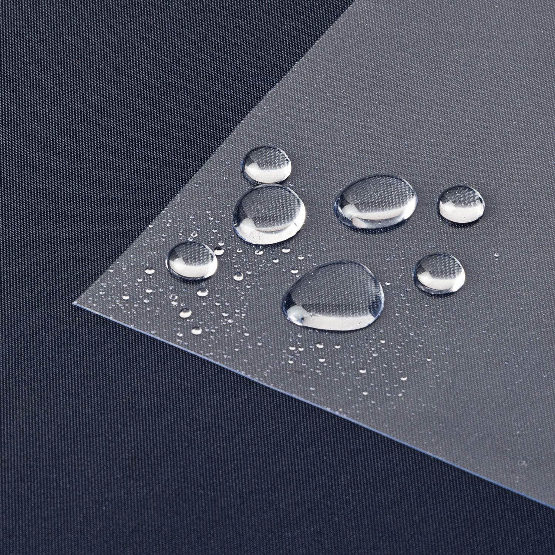 Laro Tischfolie Tischdecke Transparent Durchsichtig Abwaschbar Garten Tischdecke Tischschutz Folie Pvc Plastik Tischdecken Wasserabweisend Eckig 0 3 Mm Dicke Meterware 07 Größe 90x90 Cm Küche Haushalt