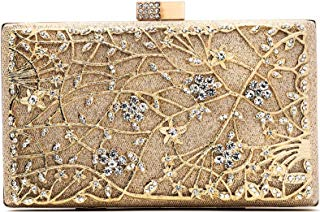 Evening Clutch Bags, Pearl Beaded Evening Bag Night Purse Handbag for Women Wedding Prom Party