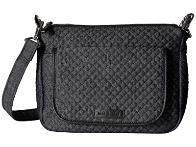 Vera Bradley Carson Mini Shoulder Bag (Denim Navy) Cross Body Handbags