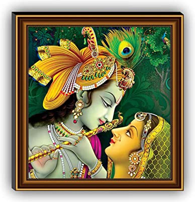 SAF 1 Art of Creations Radha Krishna UV Textured Multi-Effect 12 Inch X 12 Inch Painting¦ AANFB6137