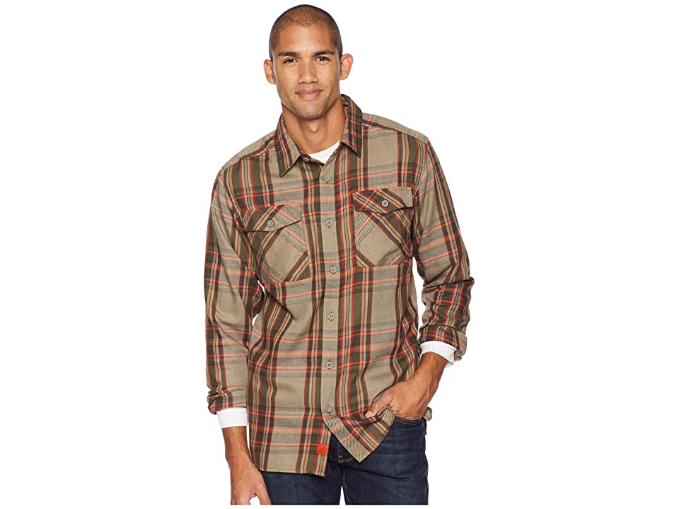 Mountain Hardwear Trekkintm Flannel Long Sleeve Shirt (Darklands) Men