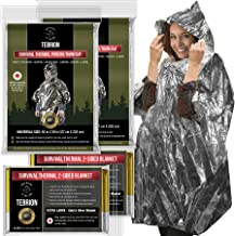 TEBRION 4 Packs Set: 2 x Reusable Waterproof Thermal Raincoat and 2 x Reusable Extra Large Size (63
