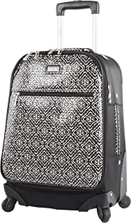"""Nicole Miller Teagan 20"""" Long Bound Expandable Spinner Wheeled Suitcase"""