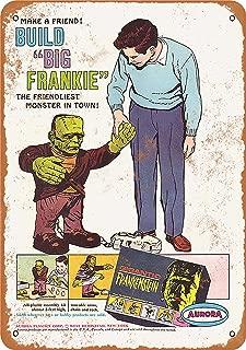 Wall-Color 9 x 12 Metal Sign - 1964 Gigantic Frankenstein Model Kit - Vintage Look