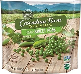Cascadian Farm Organic Sweet Peas, 10oz Bag (Frozen), Organically Farmed Frozen Vegetables, Non-GMO